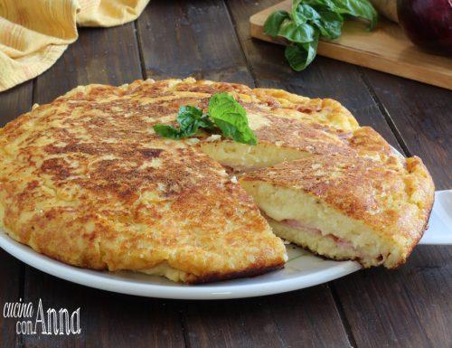 Torta salata di patate in padella