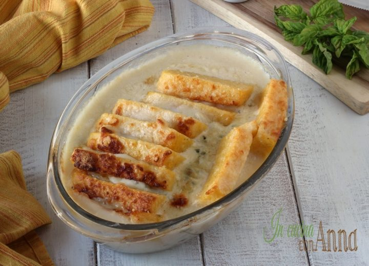 Polenta al forno ai 4 formaggi