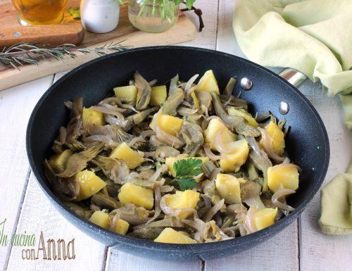 Carciofi e patate in padella alla Napoletana