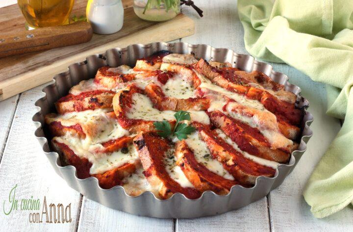 Teglia di pane alla pizzaiola