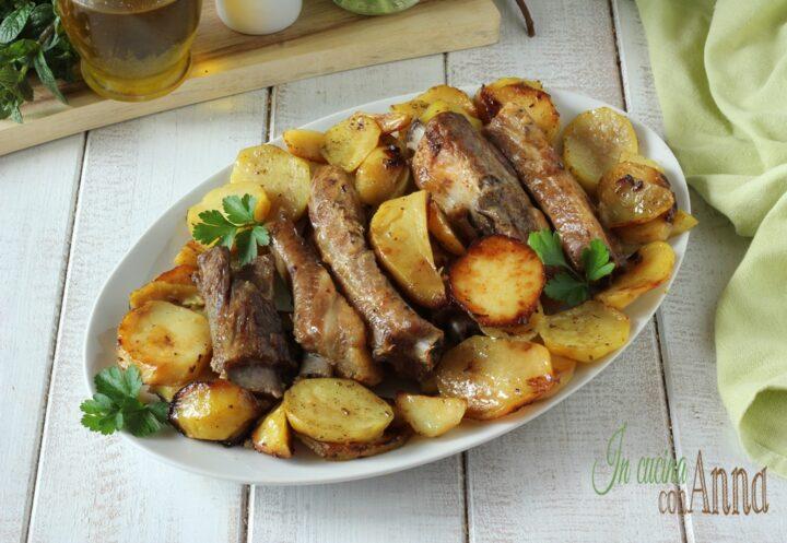 Costine al forno con patate