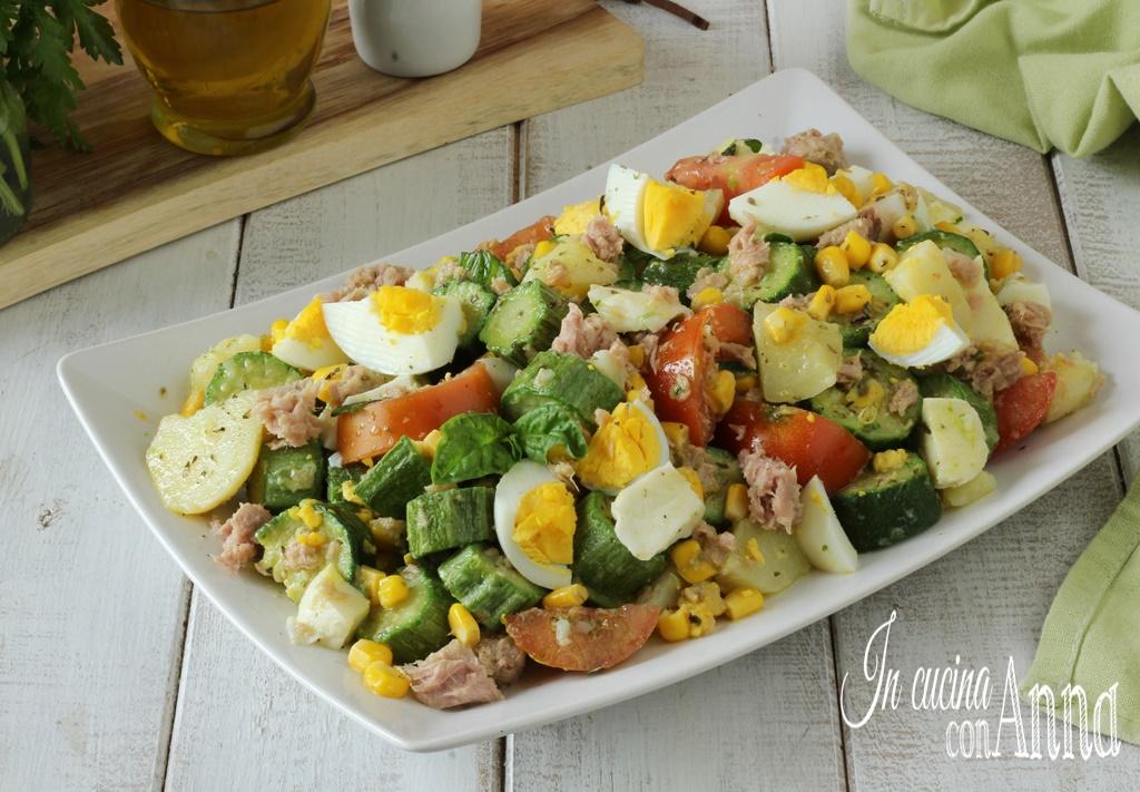 Insalatona di zucchine e patate estiva