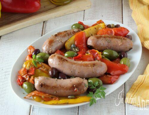 Salsiccia e peperoni alla Siciliana