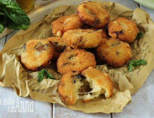 Frittelle di patate e melanzane