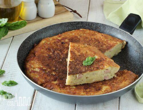 Torta salata di patate e mortadella
