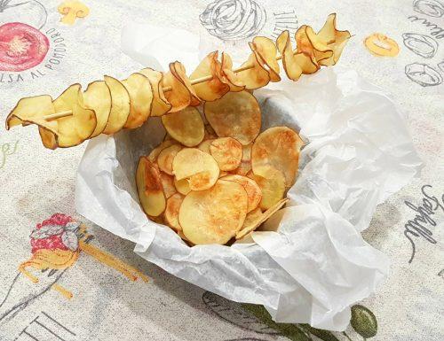 Chips di patate croccanti al microonde