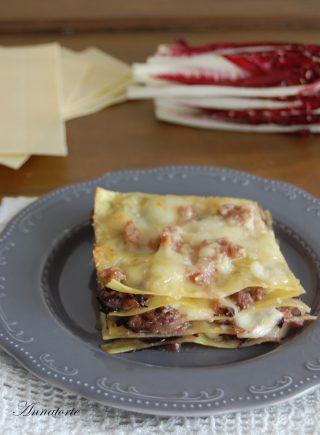 lasagne radicchio e stracchino