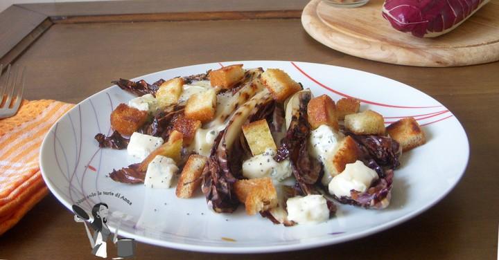 Radicchio alla piastra con gorgonzola