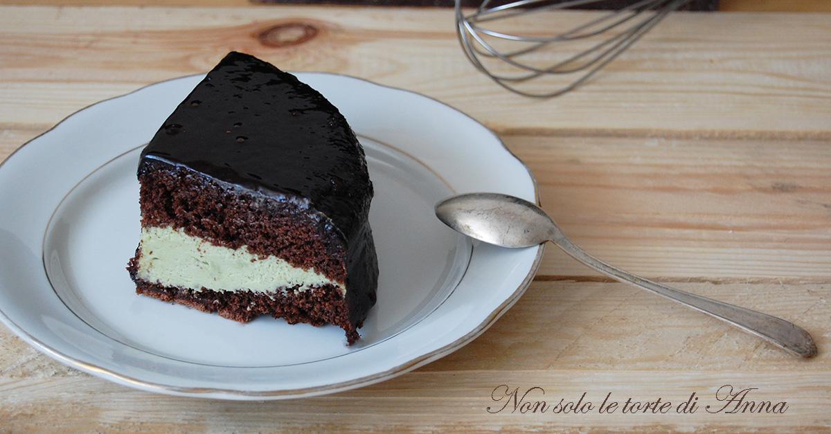 Torta foresta nera con ganache al pistacchio