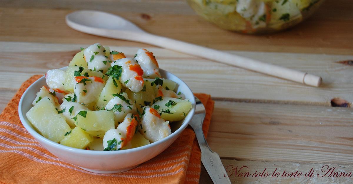Insalata di polpa di granchio e patate