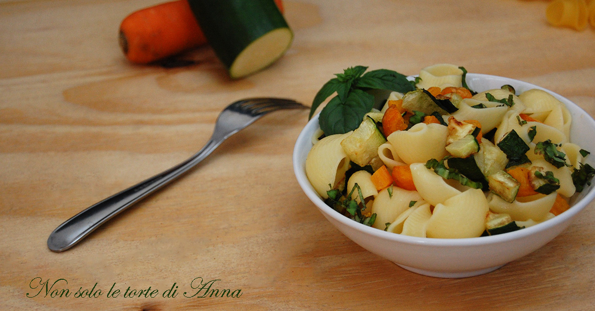 Pasta fredda zucchine e carote