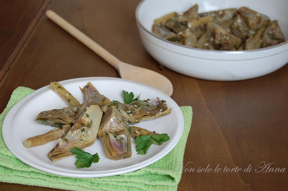 Carciofi in padella ricetta facile