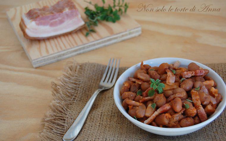 Fagioli e pancetta ricetta facile