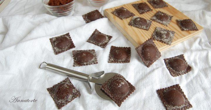 ravioli al cacao