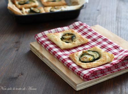 Sfogliatine con zucchine e formaggio