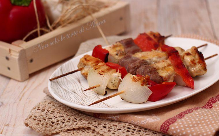 Spiedini tacchino e salsicce home made