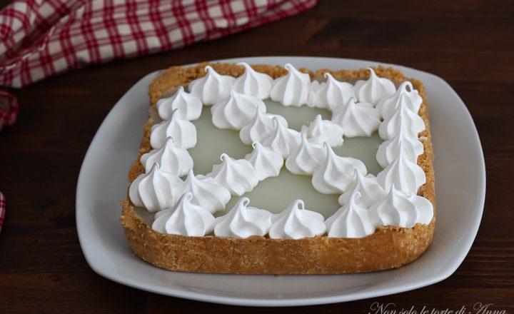 Lemon pie con crema senza uova