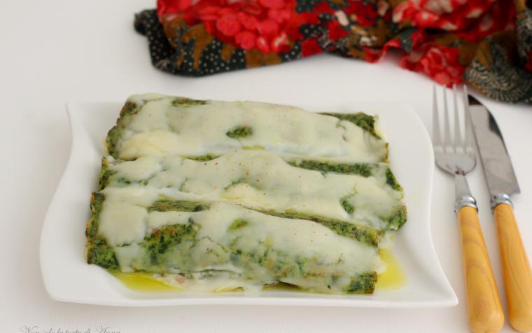 Cannelloni di spinaci con ricotta