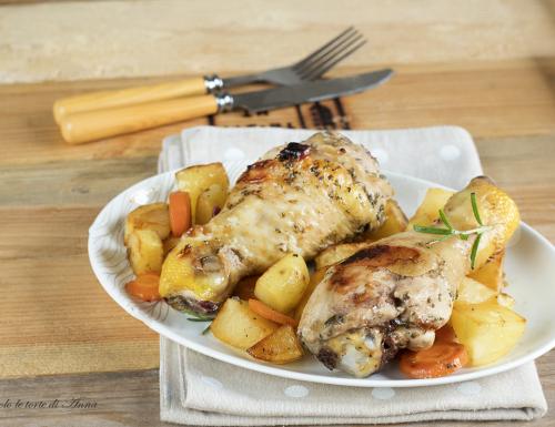 Fusi di pollo arrosto al forno