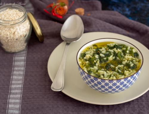 Zuppa riso e cime di rapa