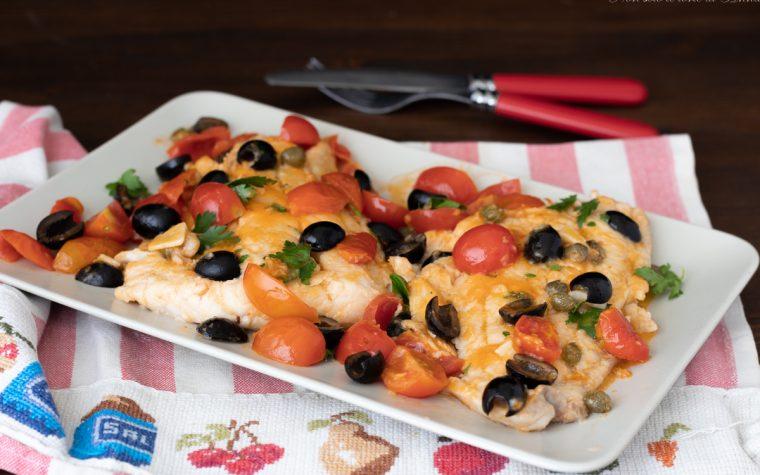 Filetti di merluzzo alla mediterranea