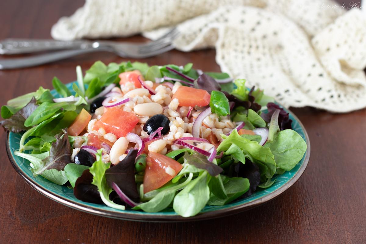 farro in insalata con olive