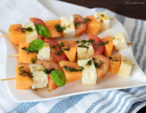 Spiedini melone e formaggio