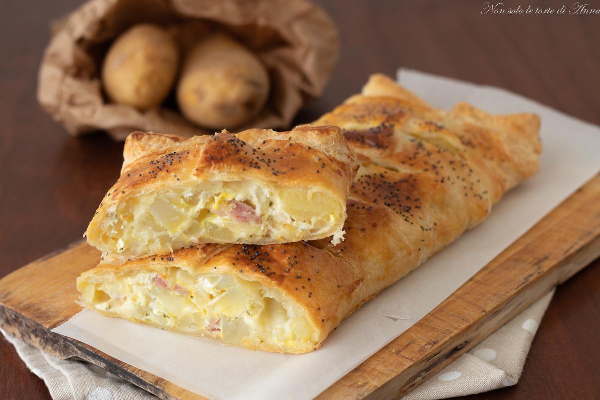 rotolo patate prosciutto e ricotta