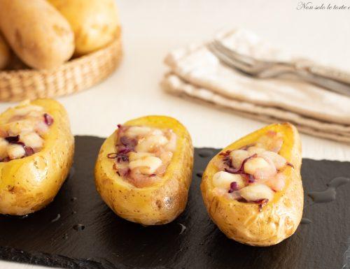Patate ripiene cipolla e formaggio