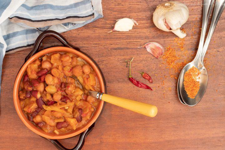 zuppa con fagioli patate