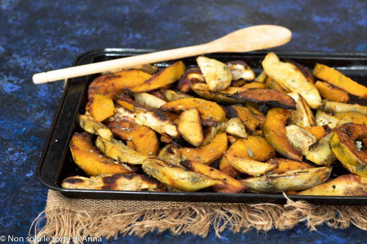 zucca e patate dolci al forno