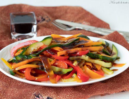 Verdure al vapore con glassa di aceto balsamico