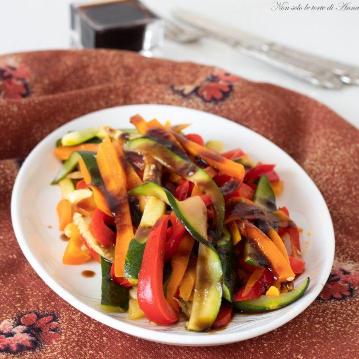 verdure al vapore con glassa