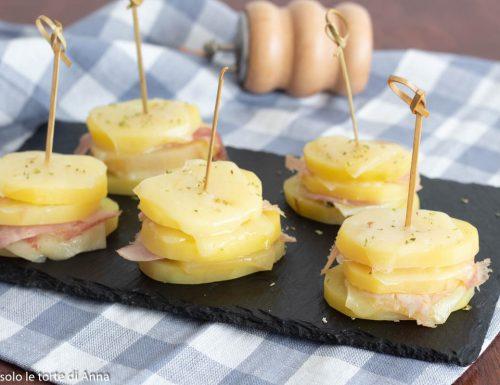 Torretta di patate e formaggio a microonde