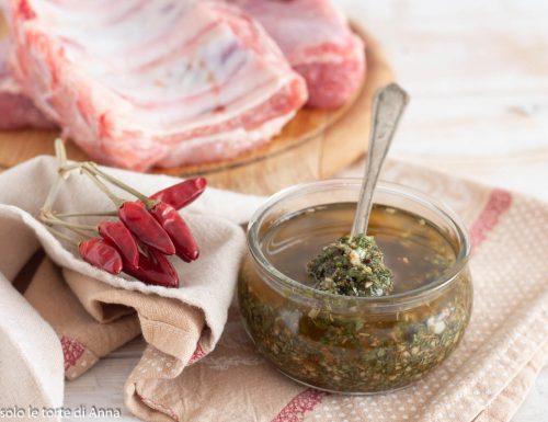 Chimichurri la salsa Argentina perfetta per la carne