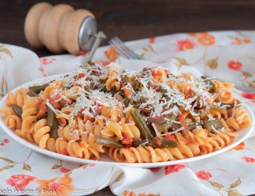 Pasta con fagiolini e cacioricotta ricetta pugliese