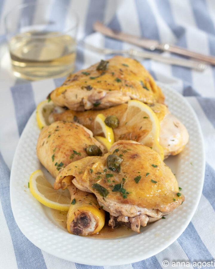 Pollo alle erbe con capperi e limone