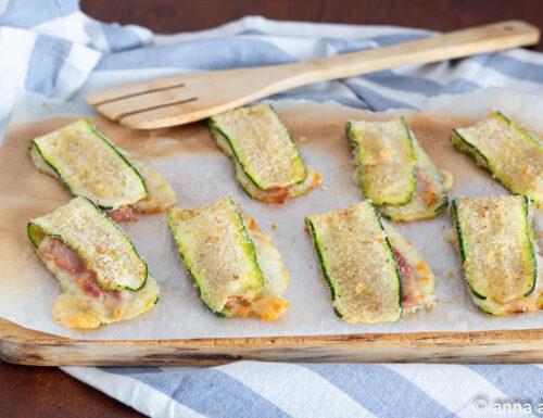 Zucchine prosciutto e scamorza al forno