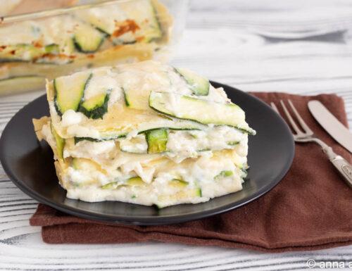 Lasagne bianche di zucchine e ricotta
