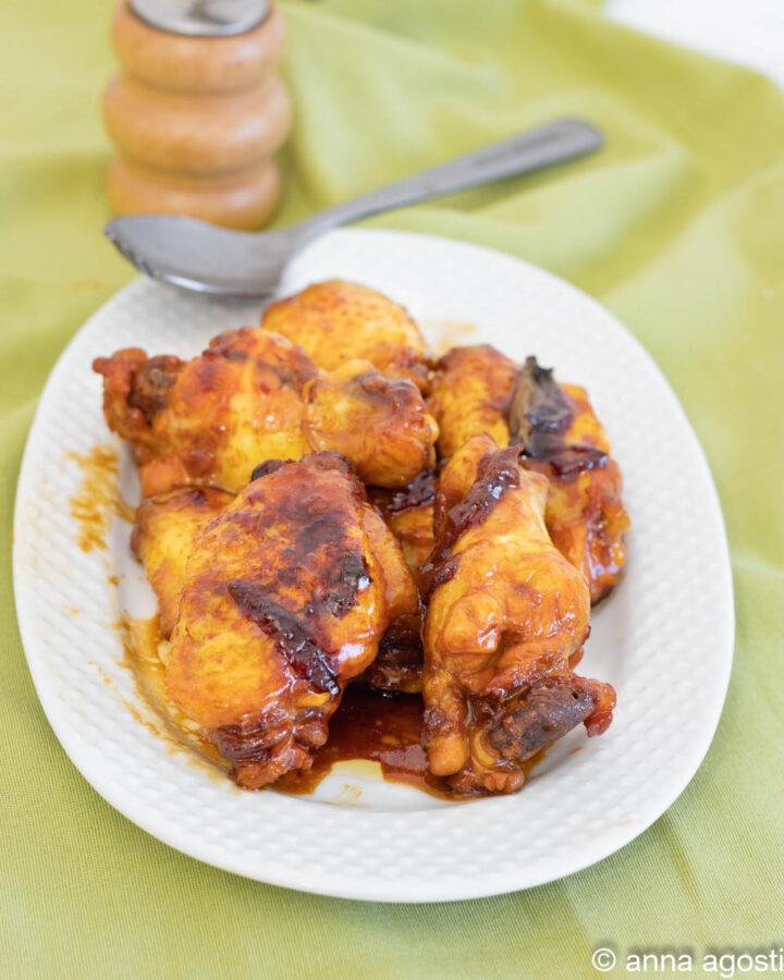 alette di pollo cinesi marinate alla soia