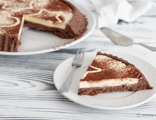 Crostata senza cottura cioccolato e cocco