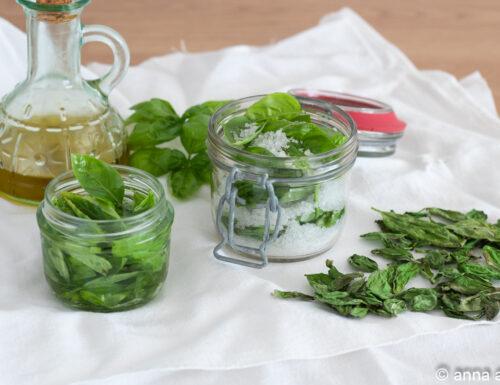 Come conservare il basilico tutto l'anno