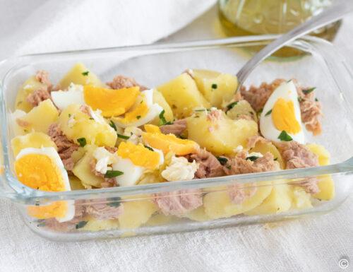 Patate al tonno con uova sode senza maionese