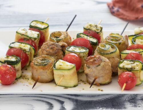 Spiedini di zucchine 2 varianti sfiziose