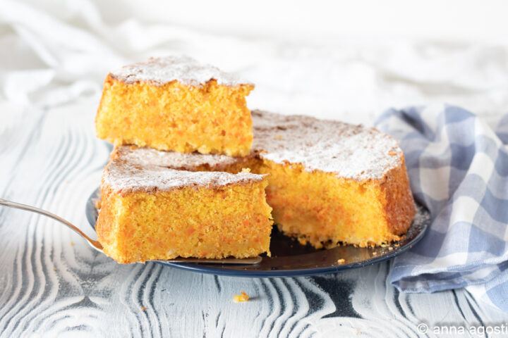 torta carote mandorle e arancia la torta Camilla