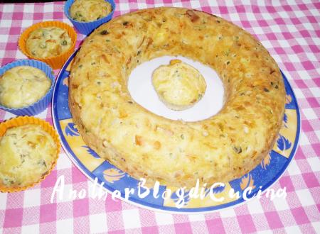 Ciambella salata con verdure e formaggi