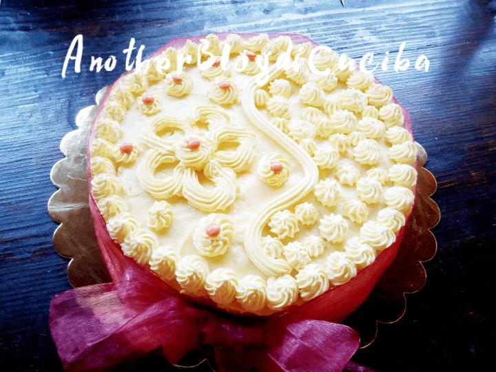 Torta con crema soffice e profumata