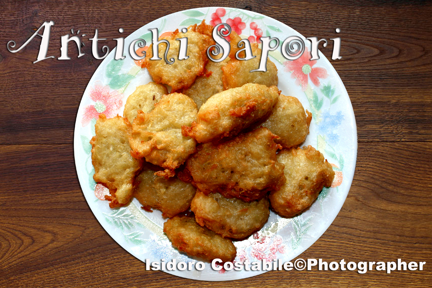 "Frittelle di chayote alias ""zucchine spinose""."