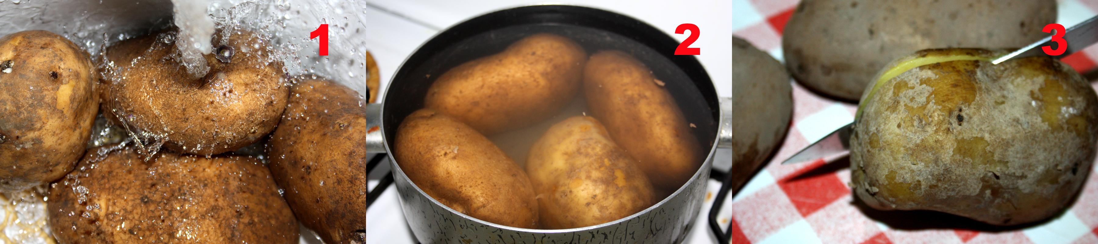 Patate cotte al forno con sorpresa.