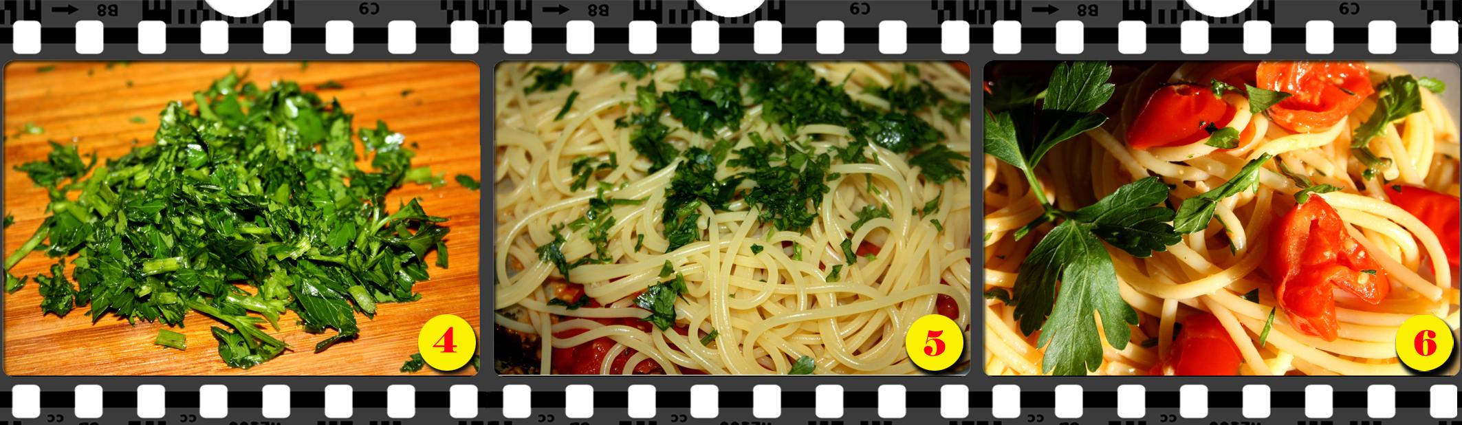 """Spaghetti alla Eduardo con vongole"""" fujute""""."""